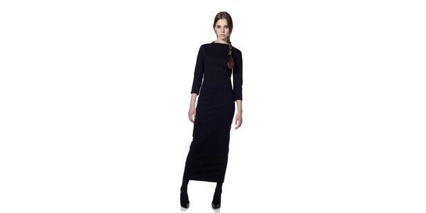 Dámske čierne šaty s dlhým rukávom Gene
