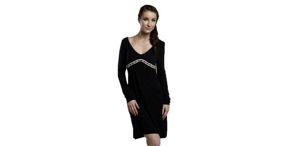 Dámska čierna nočná košeľa Les Affaires