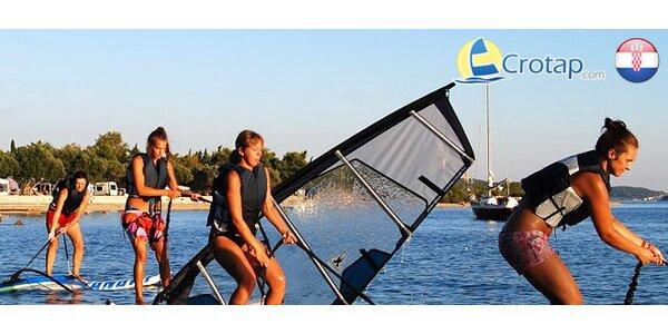 Profesionálny kurz windsurfingu na chorvátskom pobreží