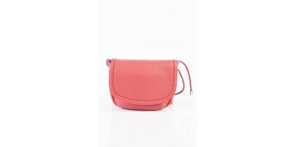 Dámska ružová kožená kabelka Fuchsia