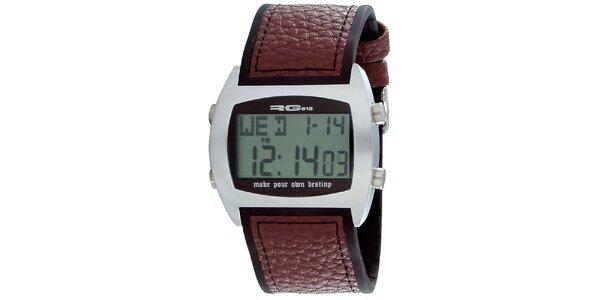 Multifunkčné strieborné digitálne hodinky RG512