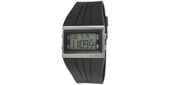 Obdĺžníkové digitálne hodinky so širokým remienkom RG512