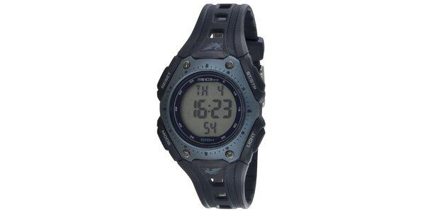 Športové modrošedé okrúhle digitálne hodinky RG512