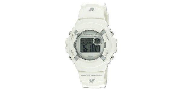 Biele robustné digitálne hodinky RG512