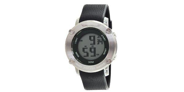 Okrúhle strieborné digitálne hodinky RG512
