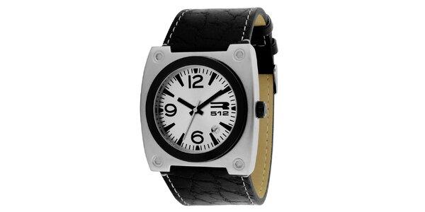 Hranaté hodinky so strieborným púzdrom RG512