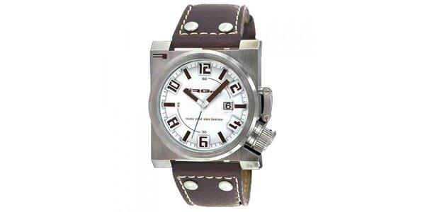 Štýlové hodinky s koženým remienkom RG512
