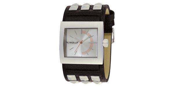 Náramkové hodinky s hranatým ciferníkom RG512