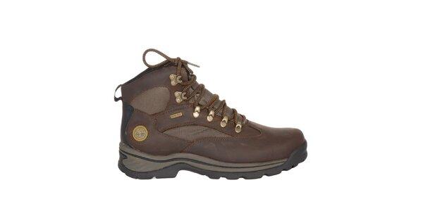Pánske čokoládovo hnedé outdoorové členkové topánky Timberland