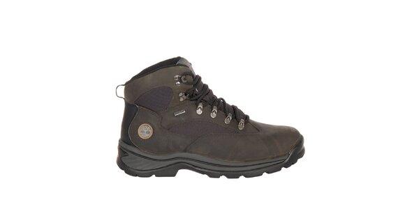 Pánske tmavo hnedé členkové topánky Timberland
