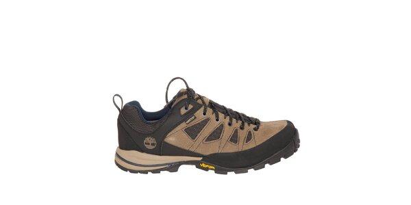 Pánske béžovo-čierne nízke trekové topánky Timberland