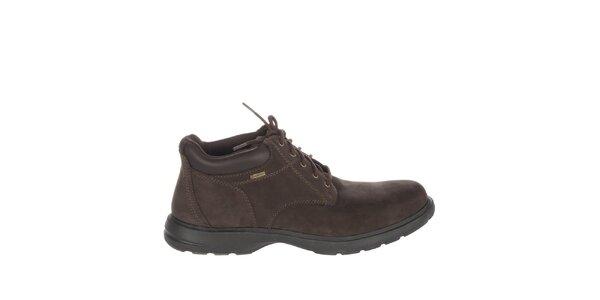 Pánske čokoládovo hnedé členkové topánky Timberland