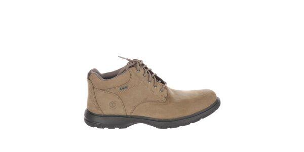 Pánske svetlo béžové členkové topánky šnurovacie Timberland