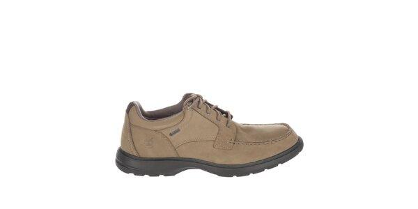 Pánske svetlo hnedé kožené topánky Timberland