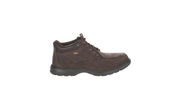 Pánske čokoládovo hnedé voľnočasové topánky Timberland