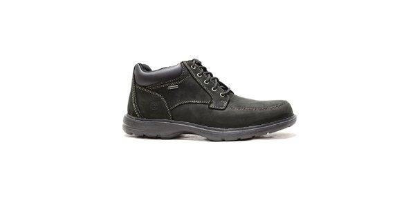 Pánske čierne kožené topánky Timberland