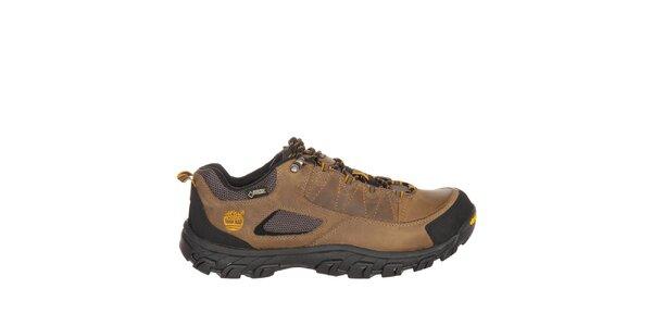 Pánske svetlo hnedé nízke trekové topánky Timberland