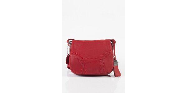 Malá dámska ružová kožená kabelka Fuchsia