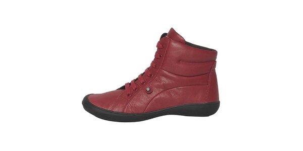 Dámske červené šnurovacie topánky Buggy