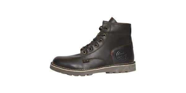 Pánske tmavo hnedé vysoké topánky Buggy