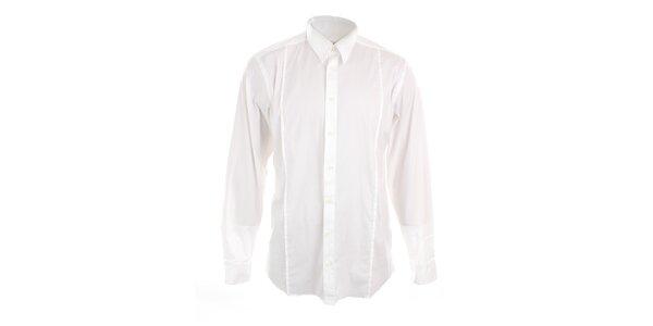 Pánska biela priliehavá košeľa Pietro Filipi