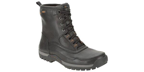 Pánske čierne vysoké kožené topánky Clarks s GTX membránou