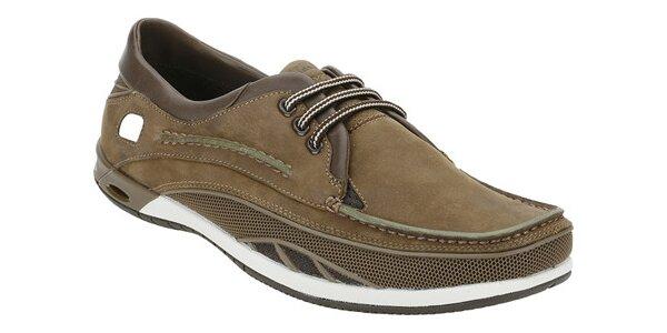 Športové hnedé topánky Clarks