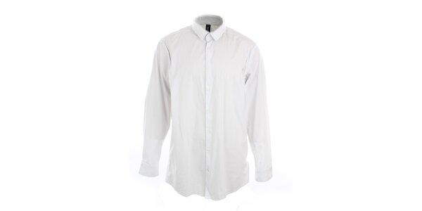 Pánska biela obleková košeľa s bodkami Pietro Filipi