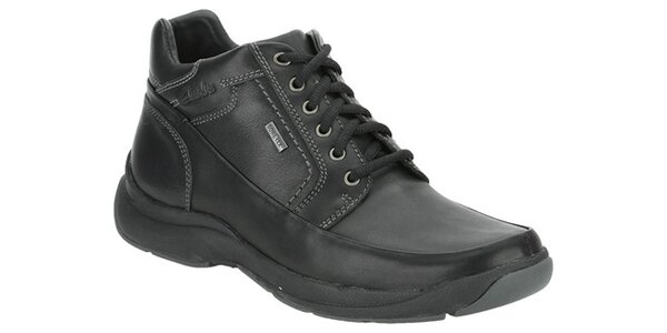 Pánske čierne kotníkové topánky Clarks s GTX membránou