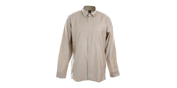 Pánska béžovo-šedá košeľa Pietro Filipi