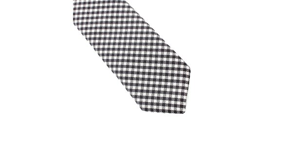 Pánska čierno-biela kockovaná kravata Pietro Filipi