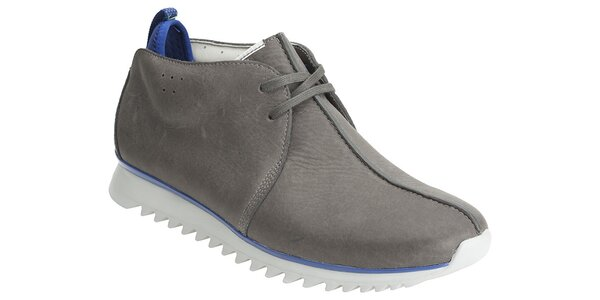 Šedivé kotníčkové topánky Clarks