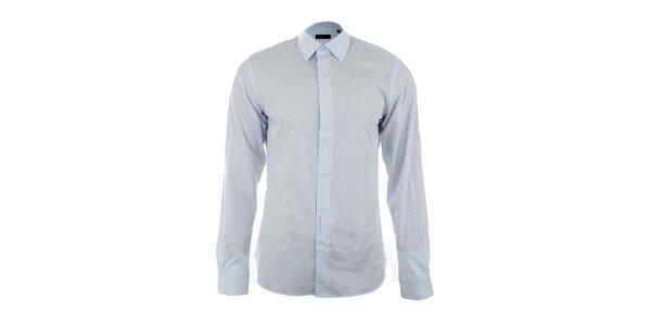 Pánska modrobiela pruhovaná košeľa Calvin Klein