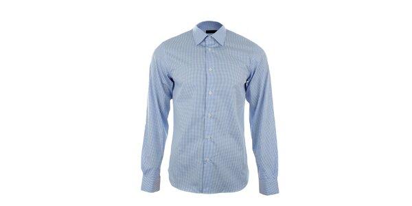 Pánska modrobiela kockovaná košeľa Calvin Klein