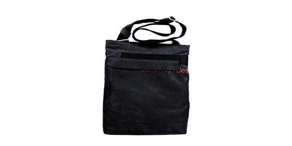 Pánska veľká čierna taška cez rameno Calvin Klein