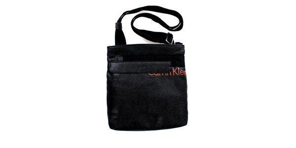 Pánska malá čierna taška cez rameno Calvin Klein