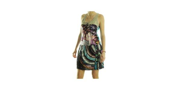 Dámske pestrofarebné šaty Custo Barcelona s potlačou