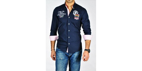 Pánska tmavomodrá košeľa Pontto