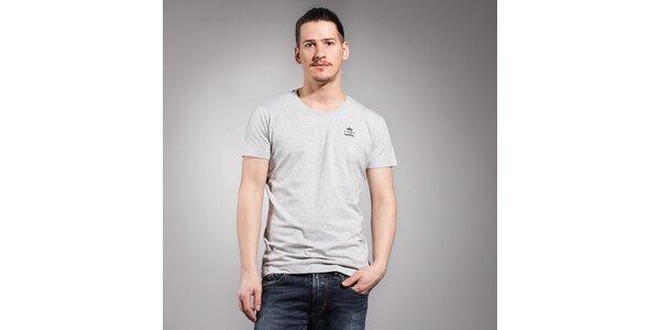 Pánske svetlo šedé tričko Diesel