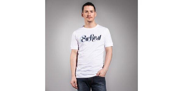 Pánske biele tričko Diesel s čiernym logom