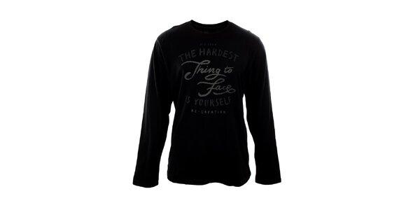 Pánske čierne tričko s nápisom Big Star