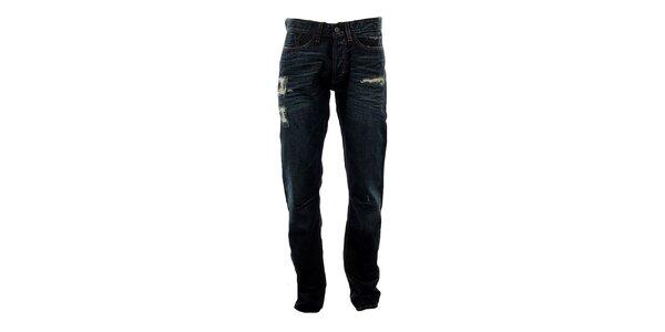 Pánske modré džínsy s predreninami Big Star