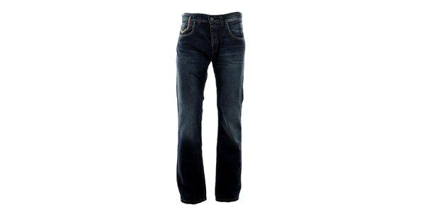Pánske tmavo modré džínsy s šisovaním Big Star