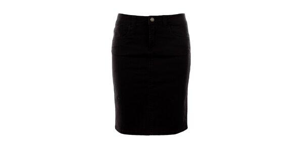 Dámska tmavo hnedá džínsová sukňa Big Star