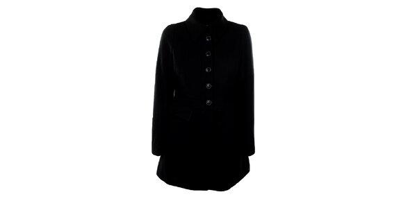 Dámsky vlnený čierny kabát Big Star