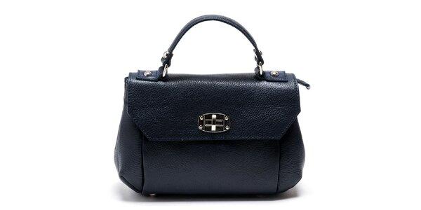 Dámska modrá kabelka s odnímateľným popruhom Carla Ferreri