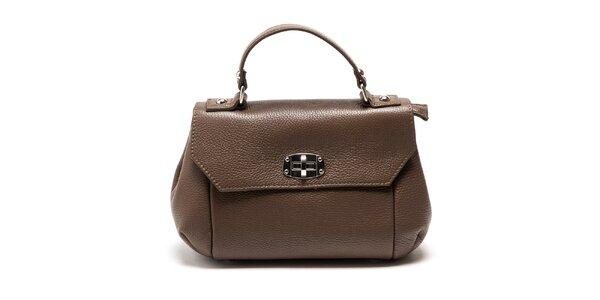 Dámska hnedá kabelka s odnímateľným popruhom Carla Ferreri