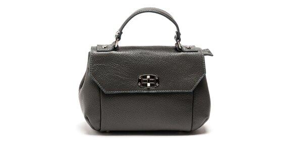 Dámska šedá kabelka s odnímateľným popruhom Carla Ferreri