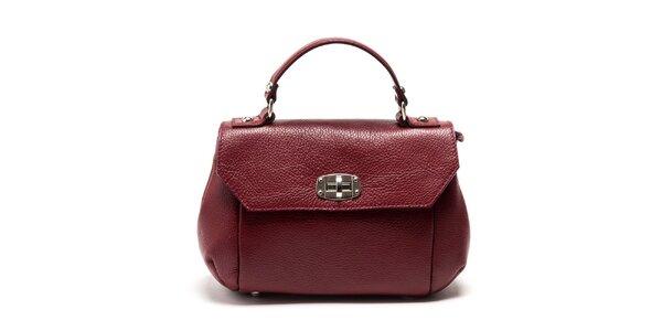 Dámska červená kabelka s odnímateľným popruhom Carla Ferreri
