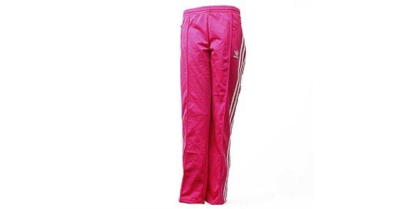 Dámske ružové športové nohavice Adidas
